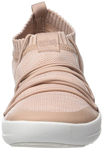 Fitflop Damen Uberknit Slip-on Ghillie Sneakers Hohe Sneaker Multicolour (neon Blush / Stedelijk Wit)