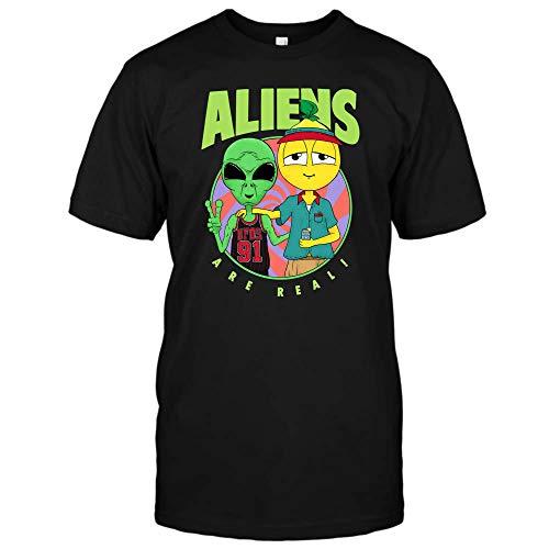 Aliens UFOs 91 are Real Lyrical Lemonade T-Shirt, Hoodie (Unisex T-Shirt;Black;L) -