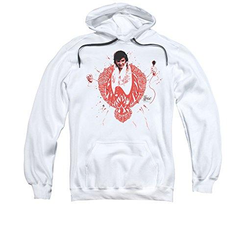 Red Phoenix - Elvis Presley Adult Hoodie Fleece Sweatshirt 3XL