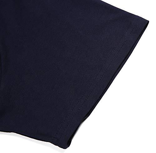 Marine Shirt Hommes Kuson Courtes Polo Coton Bleu T D'eté À Shirts lcFTK1J3