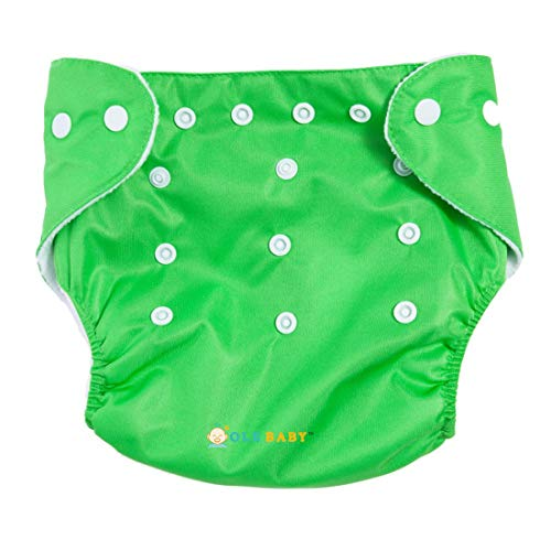 Ole Baby Cloth Diaper Reusable Nappy Organic Cotton Anti Bacterial Washable Free Size Adjustable Waterproof with Organic Insert Liner 0 3 Years  Made