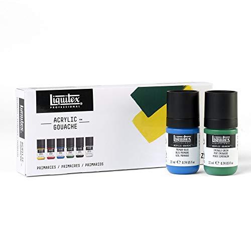 Primary Gouache - Liquitex 3699322 Professional Acrylic Gouache Paint Set Primaries 22ml