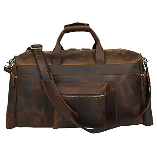 Polare 23'' Duffle Retro Thick Cowhide Leather Weekender Travel Duffel luggage Bag by Polare (Image #9)