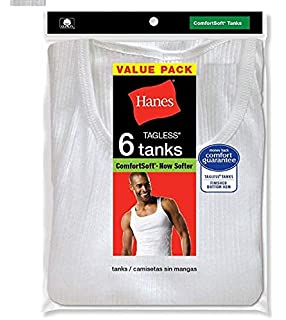 2f02bef194d3df Hanes Men s 6-Pack ComfortSoft Tanks