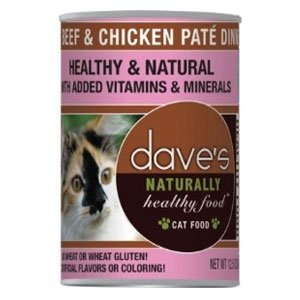 Dave'S Naturally Healthy Canned Cat Food Beef & Chicken Pate 12Oz, Pack Of 12 by Dave's Pet Food