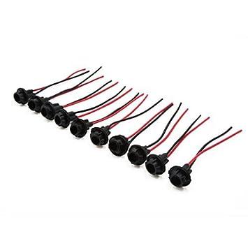 eDealMax Bombilla 10 piezas de T10 LED Sujetador del conector Conector de coches arnés de Cable