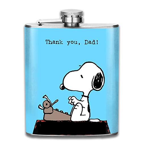 CFECUP Stainless Steel Flask Snoopy Thank You Dad Wine Bottle with Lid Leak Proof 7 - You Snoopy Thank