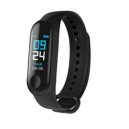 SHOPTOSHOP ME3 Smart Band Fitness Tracker Watch Heart Rate with Activity Tracker Waterproof Body Functions Like Steps Counter, Calorie Counter, Heart Rate Monitor LED Touchscreen