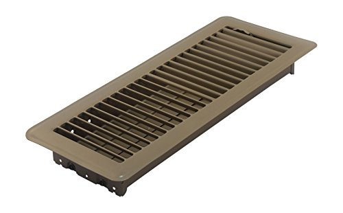 (Accord ABFRBR412 Floor Register with Louvered Design, 4-Inch x 12-Inch(Duct Opening Measurements), Brown)