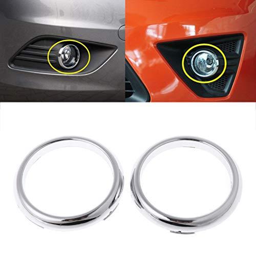 Numkuda 1 Pair ABS Chrome Front Fog Light Lamp Cover Trim For Ford Focus 2 Mk2 2009-2012