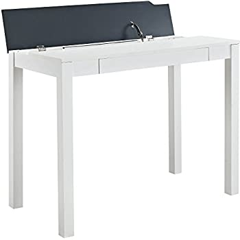 Amazon Com Altra Parsons Flip Up Desk White Black