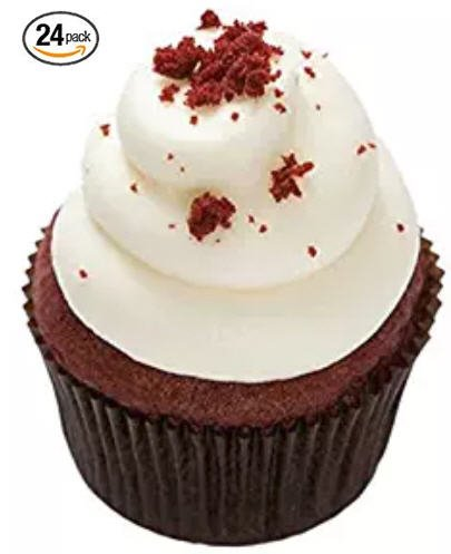 Red Velvet Mini-Cupcakes - Cream Cheese Frosting - Dessert - 24 Pack - Baked Fresh Day of Order by House of Cupcakes