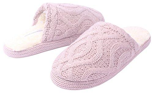 AgeeMi Shoes Chaussons femmes hiver Tricot Semelle Antid¨¦rapante Pantoufles
