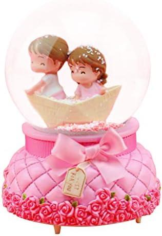 ledmomo 光るカップルクリスタルボール 船スタイル 雪の華 かわいい バレンタインデーのプレゼント 誕生日 結婚式 記念日 告白 プロポーズ 卒業式ギフト