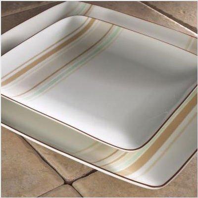 Noritake Mocha Java Swirl 10-1/4-Inch Square Plate
