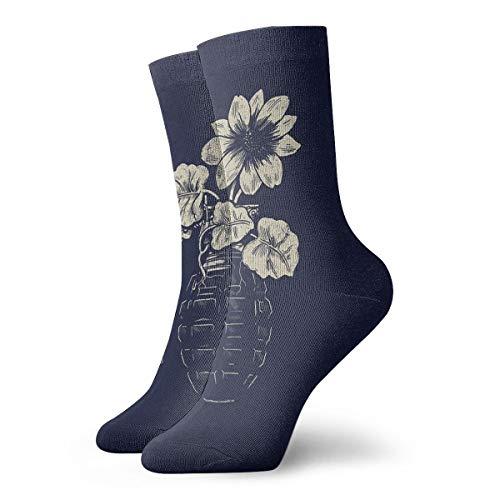 YUANSHAN Socks Artwork Flowers Grenades Women & Men Socks Soccer Sock Sport Tube Stockings Length 11.8Inch ()