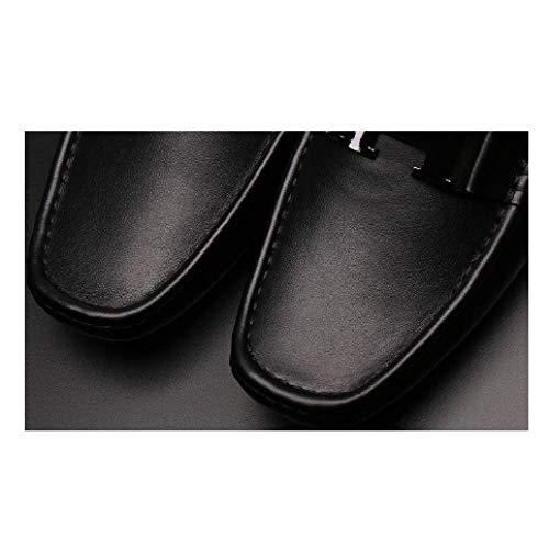 Coreana Scarpe degli Versione Casual Scarpe Uomini Estivi Traspirante Pantofole Moda Black Baotou Piselli apIqv