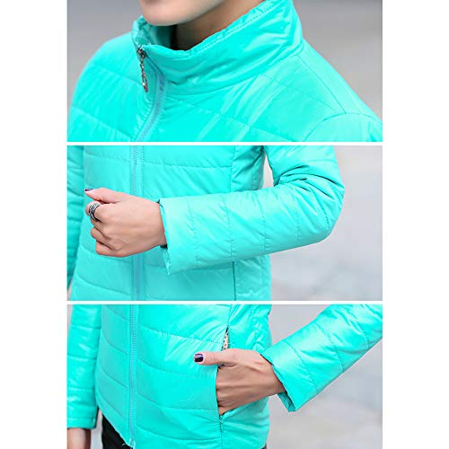 Dark Coat XFentech Outerwear Short Womens Fashion Outdoor Jacket Green Jacket Size Down Plus PO6UqPwT