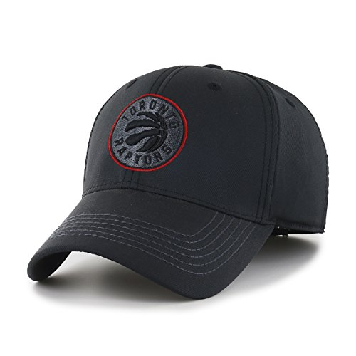OTS NBA Toronto Raptors Wilder Center Stretch Fit Hat, Black, Large/X-Large