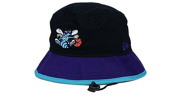 Amazon.com   Charlotte Hornets New Era NBA HWC Black-Top Black Purple  Bucket Boonie Hat   Sports   Outdoors e51596009c54