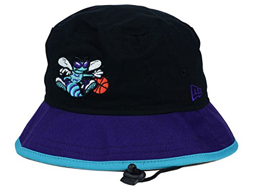 New Era Hat Print - Charlotte Hornets New Era NBA HWC Black-Top Black/Purple Bucket Boonie Hat (Medium)