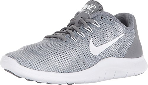 Nike Kids Flex 2018 RN Running Shoe (GS) (5, Cool Grey/White) (Nike Free Kids Shoes)