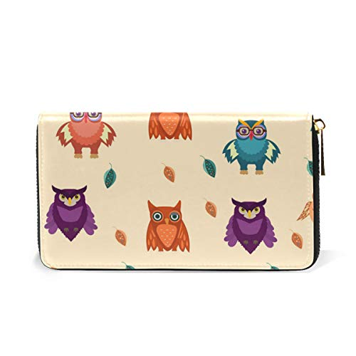 Clutch Around Zip Wallet And TIZORAX Cute Organizer Womens Handbags Owls Purses wAtBfAFq