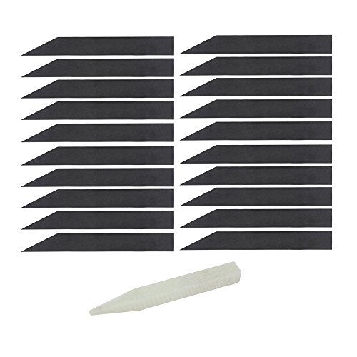 (Juvale Slate Plant Labels - 21-Pack Chalkboard Garden Stakes, Chalk Included, Slate Plant Markers, Tags for Nursery Garden Plants, Herbs, Vegetables, Black, 7.9 x 1)