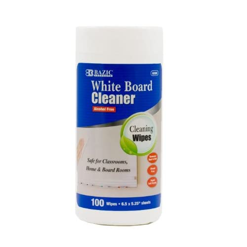 BAZIC 100 Count White Board Surface Wipes free shipping