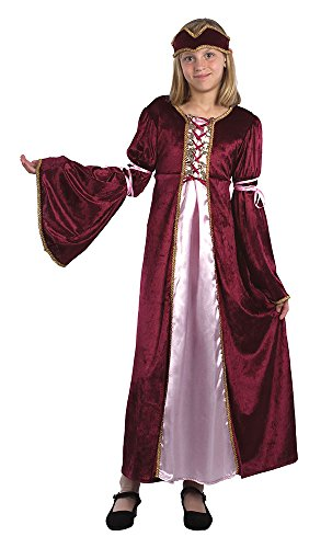 Bristol Novelty Renaissance Princess Costume (L) Childs Age 7 - 9 -