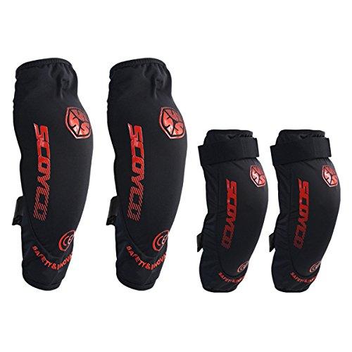 Motorcycle Racing Kneepad Elbow Brace Protective Gear For SCOYCO K18H18 (S)