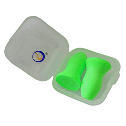 Top Reusable Comfortable Earplugs,Polyurethance Memory Foam,Ear Shield 48.4dB Highest NRR for Sleeping,Travel,Work Hearing Protection(Green,3Pairs,Medium)