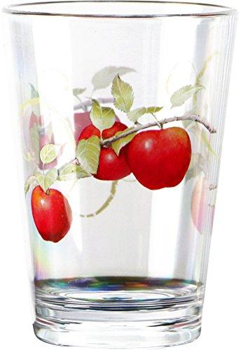 Reston Lloyd Harvest Apple Collection by Sandy Clough Acrylic Rock Glasses 14 oz, Set of 6 by Reston Lloyd