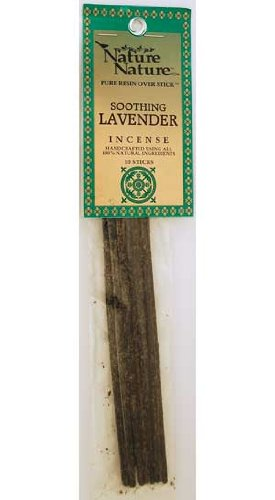 Nature Nature Pure Resin Incense - Lavender Scent - 10 Sticks - incensecentral.us