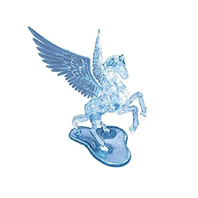 BePuzzled Pegasus Original 3D Deluxe Crystal Puzzle - Fun Yet Challenging Brain Teaser That Will Test Your Skills & Imagination, for Ages 12+: Toys & Games