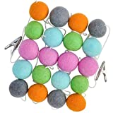 100% Wool Felt Ball Garland, Large 1.5'' Pom Pom Balls, Colorful Banner is 10 Feet Long, Bright Colored Kids Teepee Tent and Birthday Party Decorations, Perfect for Kid's Room and Nursery Decor Too