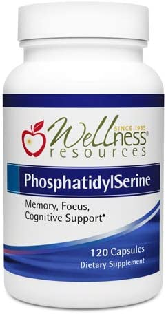 PhosphatidylSerine 100mg Soy-Free Sharp-PS Green for Focus, Memory, Brain Health 120 Capsules Non-GMO, Vegan