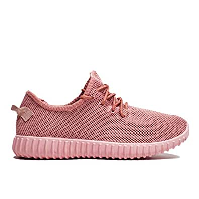 Womens Sneakers - Super Light Weight -Comfort Sneakers for Women; Colorful Fashion Trainers; Ladies Walking Shoes Pink Size: 11 M US