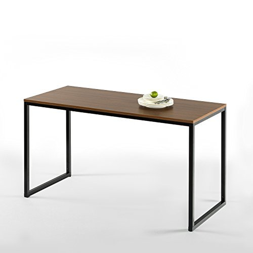 Zinus Modern Studio Collection Soho Rectangular Dining Table / Table Only /Office Desk / Computer Table - Brown Finish Wood Dining Table
