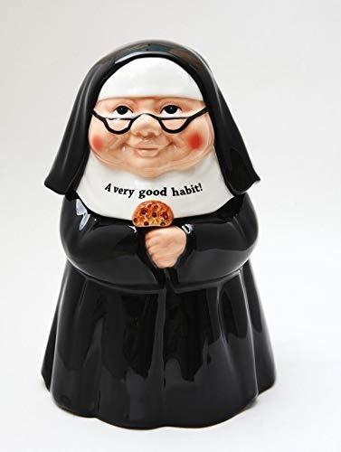 Figurine A Very Good Habit Nun Ceramic Cookie Jar 10