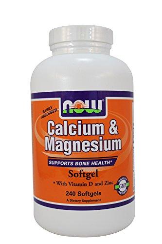 Now Foods: Calcium et magnésium favorise la santé des os, 240 Sgels