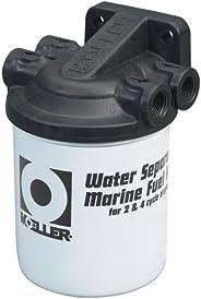 "Moeller Water Separating Fuel Filter System 2-Pack (3/8"" NPT, Stainless Steel, Unive"