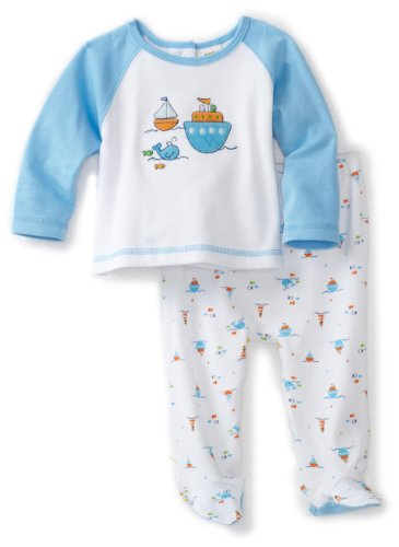 ABSORBA Baby-Boys Newborn Boating Two Piece Footed Pant Set