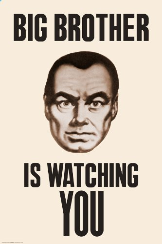 Amazoncom Culturenik Big Brother Watching You Ninteen Eighty Four