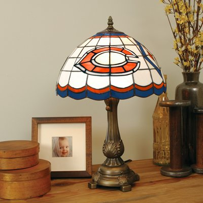 Tiffany Style Stained Glass Lamp - Chicago Bears by The Memory Company