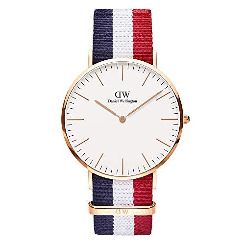 Daniel Wellington Herren Analog Japanese Quartz Uhr mit Natoband Armband DW00100003