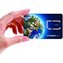 Sim4Globe Prepaid International SIM Card for Global Over 190 Countries - Compatible with All GSM Unlocked Phones (3-in-one micro, nano, Standard SIM) with $8 credit