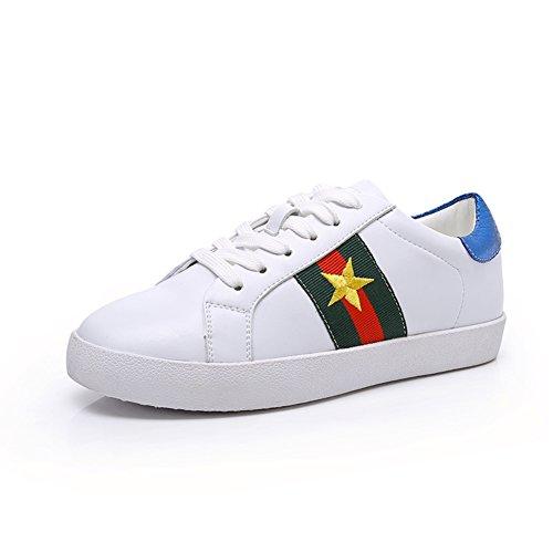 Weiße Leder Schuhe,Lace Freizeitschuhe,Studenten Flache Turnschuhe,Weiße skate-Schuhe,Frühling Und Winter Koreanische Version Von Sneakers A