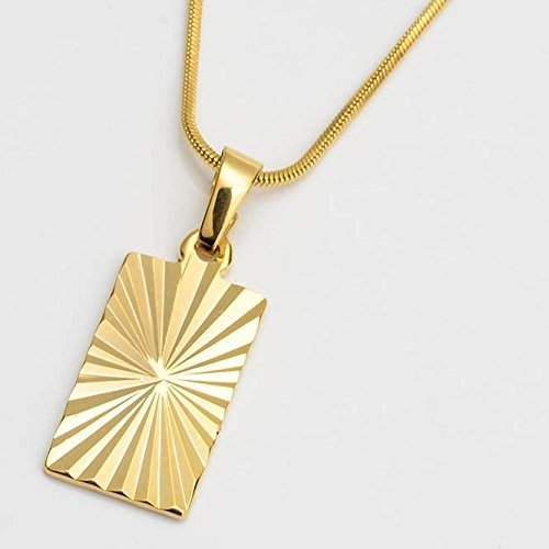 (Unique Pendant Necklace 18k Yellow Gold Filled 18 Link Fashion Chain Hot)