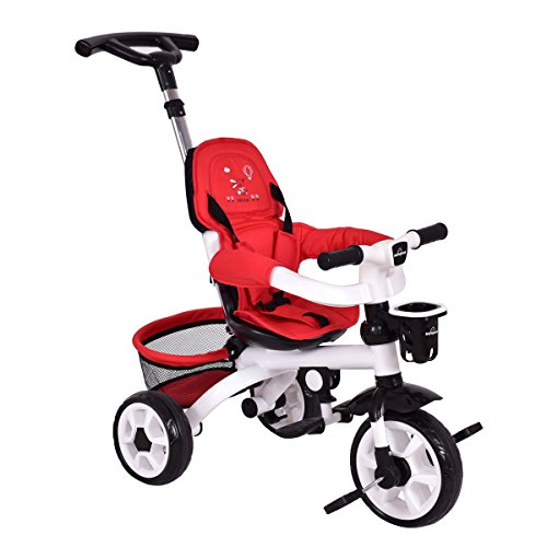 4-In-1 Kids Baby Stroller Tricycle Detachable Learning Toy Bike w/ Canopy Basket + FREE E - Book by Eight24hours